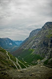 Trollstigen road Stock Images
