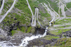 The Trollstigen road between the mountains, Norway. Royalty Free Stock Photo