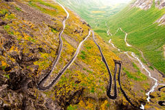 Trollstigen road in Norway Stock Photography