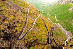 Trollstigen road in Norway. View of mountain road in Norway Stock Photography