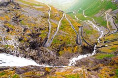 Trollstigen road in Norway Stock Image