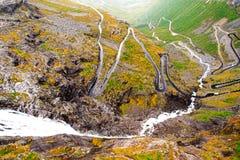 Trollstigen road in Norway. Trollstigen view of mountain road Stock Image