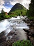 Trollstigen snel stromend water Royalty-vrije Stock Fotografie