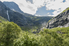 Trollstigen-Talbahnstraße in Norwegen Stockfotos