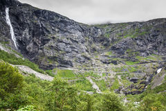 Trollstigen, Troll's Footpath, serpentine mountain road in Norwa Royalty Free Stock Photography
