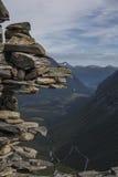 Trollstigen - Trolls' Path Mountain Road in Norway Royalty Free Stock Photos