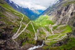 Trollstigen Trolls Path, Norway Stock Images