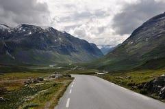 Trollstigen. The valley after the faimous Trollstigen road in Norway Stock Image