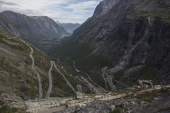 Trollstigen viewing platform - Trolls Path Mountain Road in Norway Stock Photography