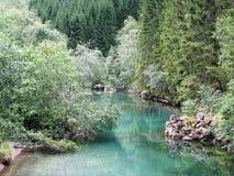 Trollstigen. On the way to Trollstigen road there is a beautiful river Stock Photo
