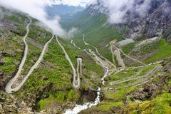 Trollstigenweg, Noorwegen Stock Foto's