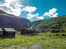Trollstigveien in Norway. A Photo of Trollstigveien, a very popular tourist Route in Norway Stock Images