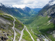 Trollstigveien route in Norway Stock Photo