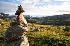 Trolltunga в Норвегии стоковые фото
