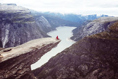 Trolltunga Photographie stock