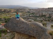 Trolltunga, estilo de Cappadocia Imagens de Stock