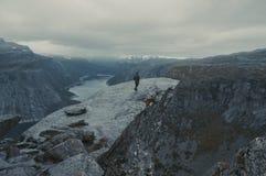 Trolltunga i Norge arkivfoto