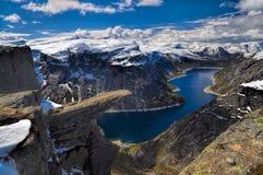 Trolltunga, Noorwegen royalty-vrije stock foto