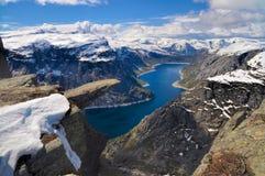 Trolltunga, Noruega Foto de Stock Royalty Free