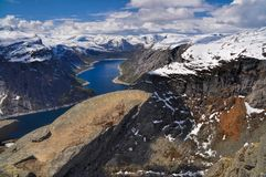 Trolltunga, Noruega Imagem de Stock Royalty Free