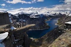 Trolltunga, Noruega Fotos de Stock