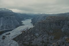 Trolltunga in Norway stock photography