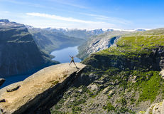 Trolltunga, Odda, Norvegia (2014) Fotografia Stock
