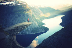 Trolltunga rock Stock Photos