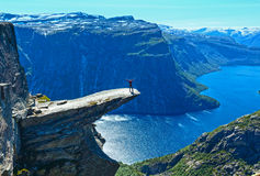 Trolltunga summer view (Norway). Stock Photos