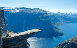Trolltunga summer view (Norway). Stock Image
