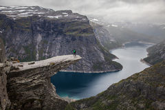 Trolltunga view. Great Trolltunga Norway view during tripping Royalty Free Stock Images