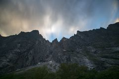 Trollveggen, Νορβηγία Στοκ Φωτογραφία