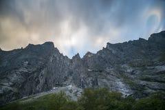 Trollveggen, Νορβηγία Στοκ φωτογραφία με δικαίωμα ελεύθερης χρήσης