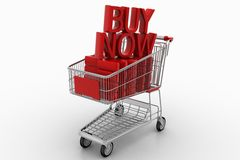 Trolly Cart With Buy Now Stock Images