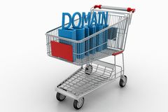 Trolly Cart With Domain Royalty Free Stock Photo