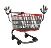 The trolly charecter with hello pose Royalty Free Stock Photography