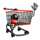 The trolly charecter with mike Royalty Free Stock Images