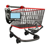 The trolly charecter with mobile Stock Photo
