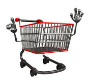 The trolly charecter is pointing Royalty Free Stock Images