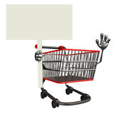 The trolly charecter with sign Royalty Free Stock Photo