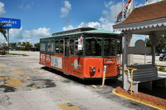 Trolly in Key West Florida. Image of atrolly in Key West Florida Royalty Free Stock Photos