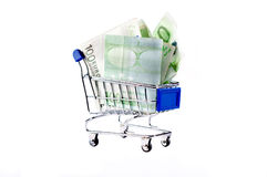 Trolly and money Stock Photos