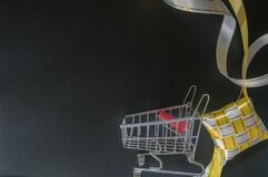 White yellow ketupat and troly