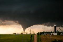 Tromb nära Kearney, Nebraska Royaltyfria Bilder