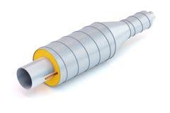 Tromba del metallo con isolamento termico Immagine Stock