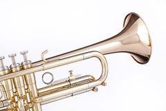 Tromba dell'oro isolata su bianco immagine stock