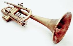 Tromba marrone d'annata Fotografia Stock