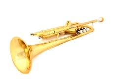 Trombeta do ouro Imagem de Stock Royalty Free
