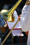 Trombeta na orquestra Fotografia de Stock