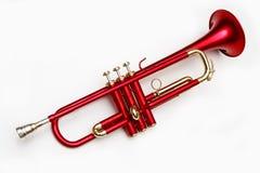 Trombeta vermelha Imagem de Stock Royalty Free